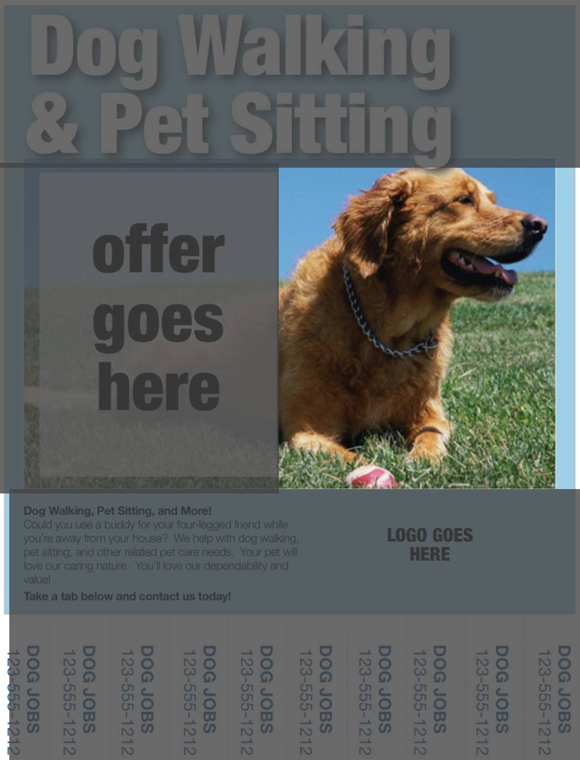 dog walking flyer images