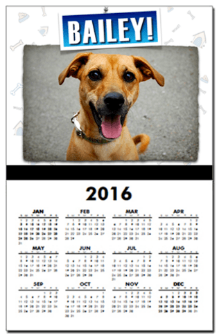 personalized pet calendar holiday gift