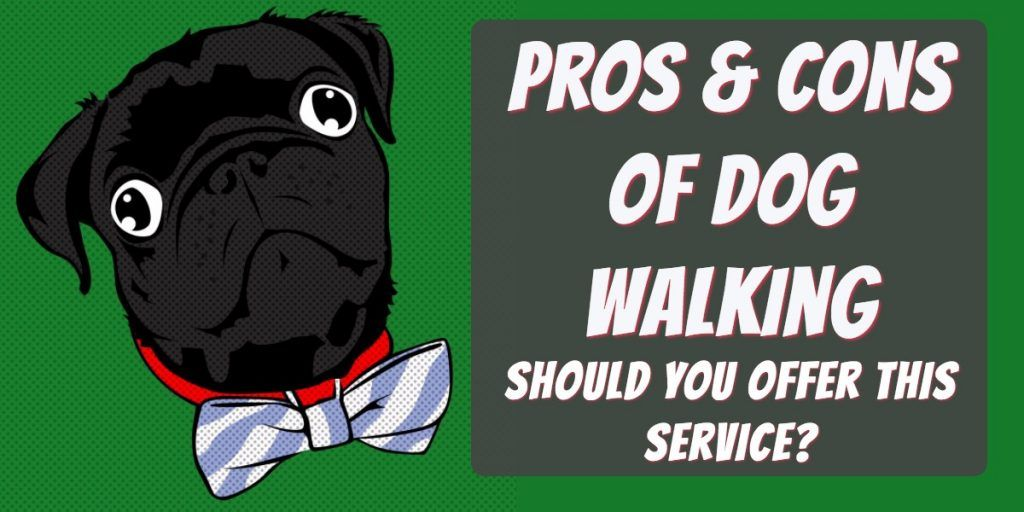 pros and cons of a dog walking business