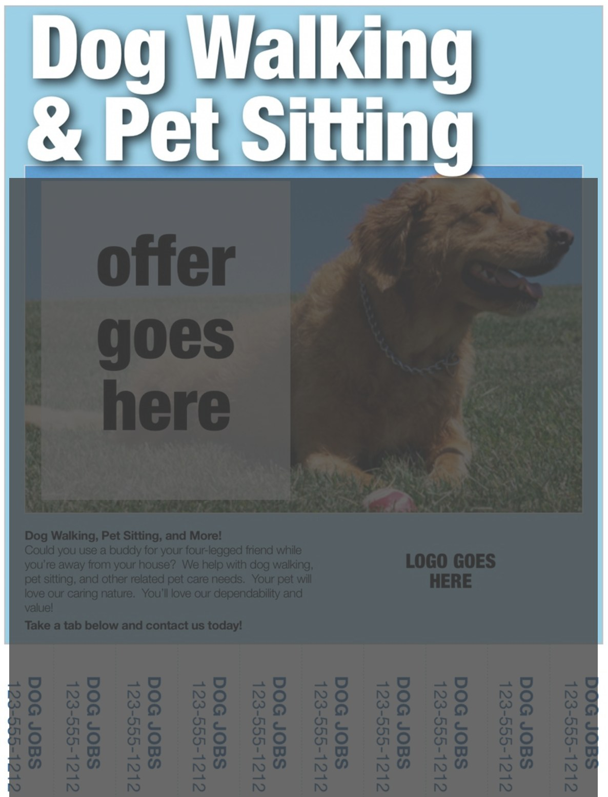 dog walking flyer title